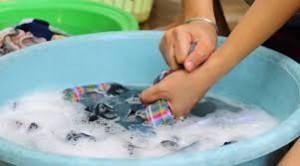 cucian baju mampet